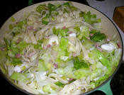 pasta with cabbage and mozarella